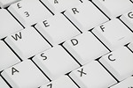Free Stock Photo: Close-up of a white keyboard