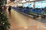Free Stock Photo: An airport terminal at Christmas time