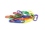 Free Stock Photo: Colorful paper clips isolated on a white background