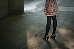 Free Stock Photo: Female legs and a dress standing outside