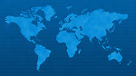 Free Stock Photo: Blue world map with binary code