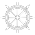 Free Stock Photo: Illustration of a ship steering wheel