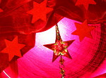 Free Stock Photo: A red Christmas background