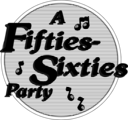 Free Stock Photo: Illustration of a fifties-sixties party sign