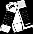 Free Stock Photo: Illustration of a cordless telephone