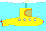 Free Stock Photo: Illustration of a yellow submarine