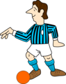 Free Stock Photo: Illustration of a soccer player