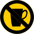 Free Stock Photo: Illustration of a no drinks sign