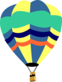 Free Stock Photo: Illustration of a hot air balloon