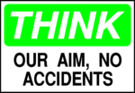 Free Stock Photo: Illustration of a no accident warning sign