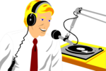 Free Stock Photo: Illustration of a radio disc jockey