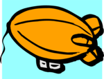 Free Stock Photo: Illustration of an orange blimp