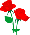 Free Stock Photo: Illustration of two red roses