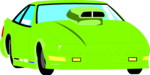 Free Stock Photo: Illustration of a green racecar