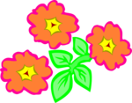 Free Stock Photo: Illustration of orange flowers