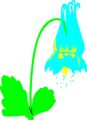Free Stock Photo: Illustration of a blue columbine flower