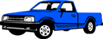 Free Stock Photo: Illustration of a blue pickup truck