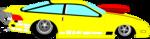 Free Stock Photo: Illustration of a yellow racecar
