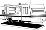 Free Stock Photo: Illustration of an rv trailer