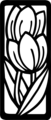 Free Stock Photo: Illustration of outlines of tulip flowrs