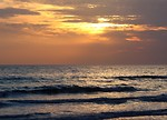 Free Stock Photo: An ocean sunset