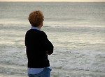 Free Stock Photo: A woman overlooking the ocean
