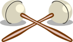 Free Stock Photo: Illustration of a pair of maracas