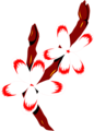 Free Stock Photo: Illustration of red and white flowers on a branch