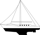 Free Stock Photo: Illustration of a large sailboat